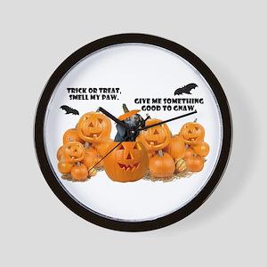 Dachshund Halloween (Black & Tan) Wall Clock
