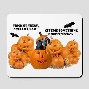 Dachshund Halloween (Black & Tan) Mousepad
