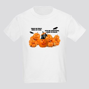 Dachshund Halloween (Black & Tan) Kids Light T-Shi