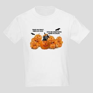 Dachshund Halloween (Black & Tan) Kids Light T-Shi