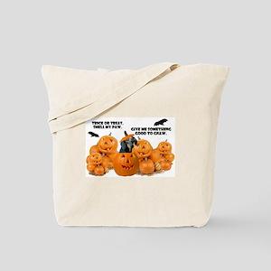 Dachshund Halloween (Black & Tan) Tote Bag