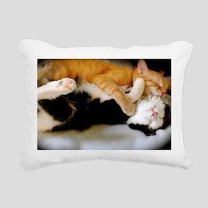Kitten Tickles Rectangular Canvas Pillow