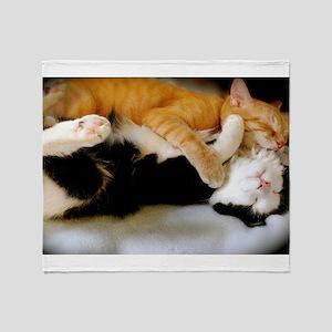 Kitten Tickles Throw Blanket