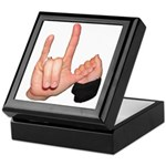 ASL I Love You with mom and c Keepsake Box