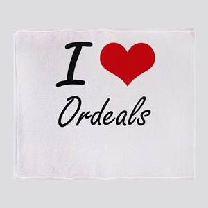 I Love Ordeals Throw Blanket