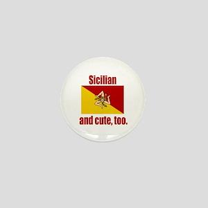 Cute Sicilian Mini Button