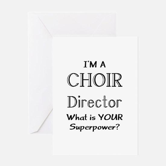 choir director Greeting Card