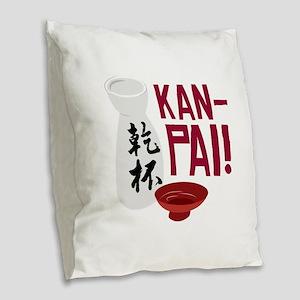 Kan-Pai Burlap Throw Pillow