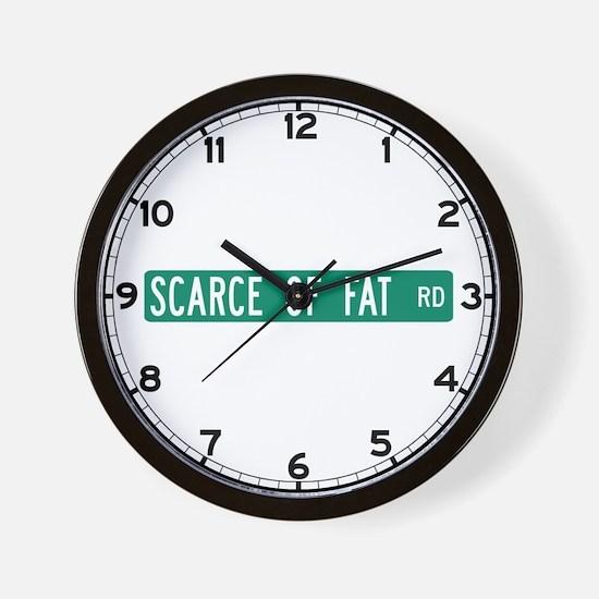 Scarce Of Fat Road, Nashville (IN) Wall Clock