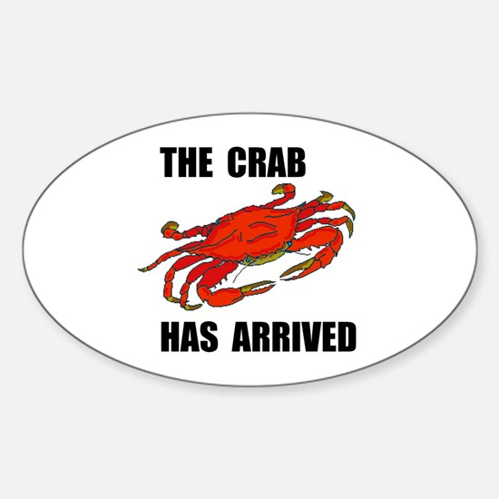CRAB Oval Decal