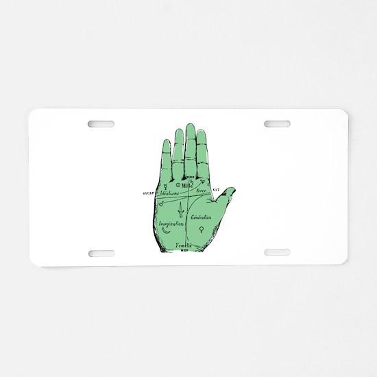 Palmistry Aluminum License Plate