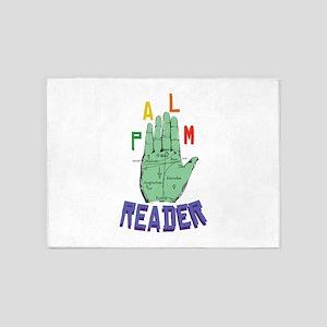 Palm Reader 5'x7'Area Rug