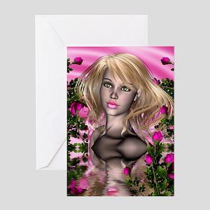 PINK ROSE GARDEN Greeting Card
