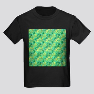 Emerald Green Crumpled Pattern T-Shirt