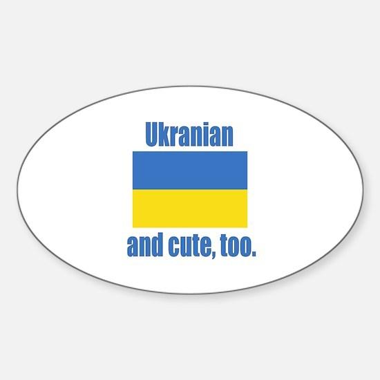 Cute Ukranian Oval Decal