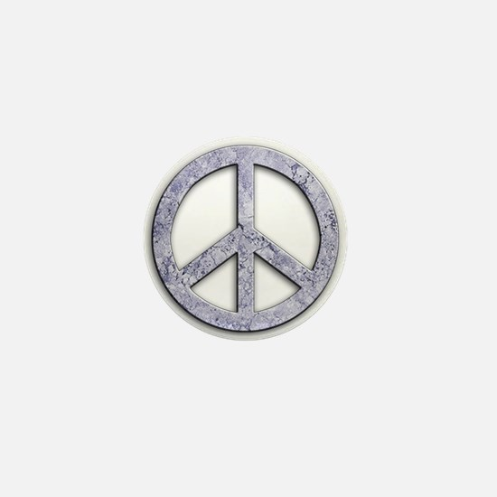 Marble Texture Peace Sign Mini Button