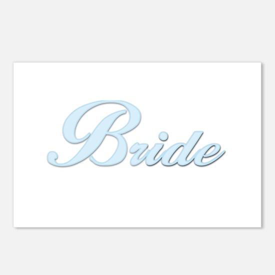 Bride (Blue) Postcards (Package of 8)