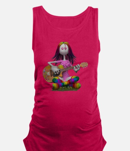 Hippy Chick ~ Peace and Love Maternity Tank Top