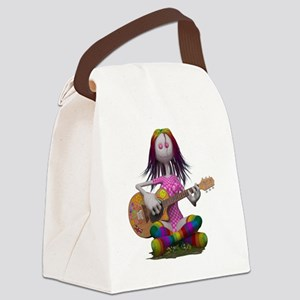 Hippy Chick ~ Peace and Love Canvas Lunch Bag
