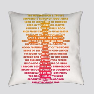 Names of Jesus found in Scripture Everyday Pillow