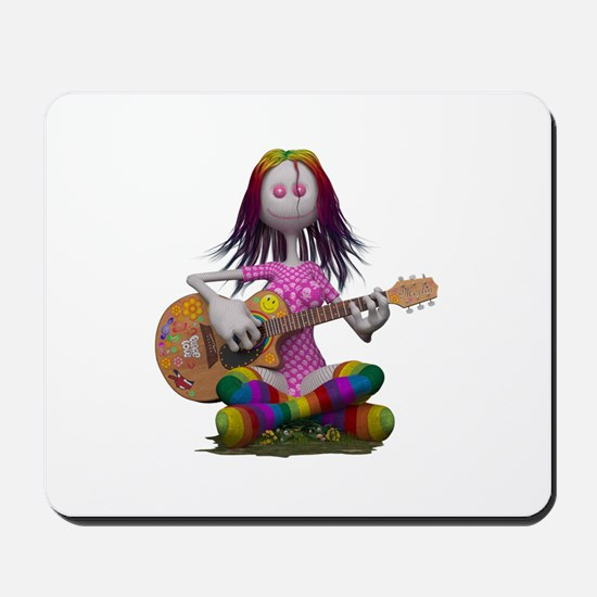 Hippy Chick ~ Peace and Love Mousepad