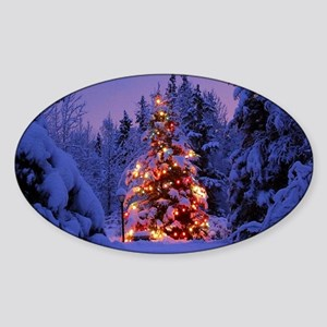 Christmas Tree With Lights Sticker