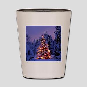 Christmas Tree With Lights Shot Glass