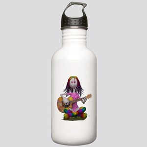 Hippy Chick ~ Peace an Stainless Water Bottle 1.0L