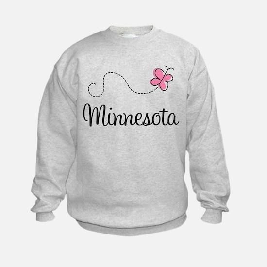 Minnesota Pink Butterfly Sweatshirt