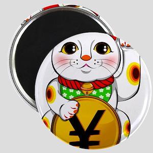 Yen Yuan Lucky Cat Maneki Neko Magnets