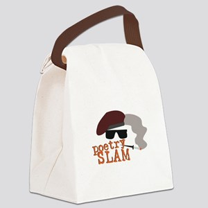 Poetry Slam Canvas Lunch Bag