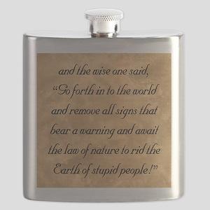 Warnings, The Wise One Speaks of Flask