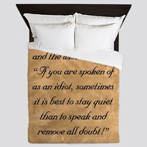Quiet Doubt, The Wise One Speaks of (L Queen Duvet