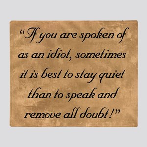 Quiet Doubt, The Wise One Speaks of  Throw Blanket
