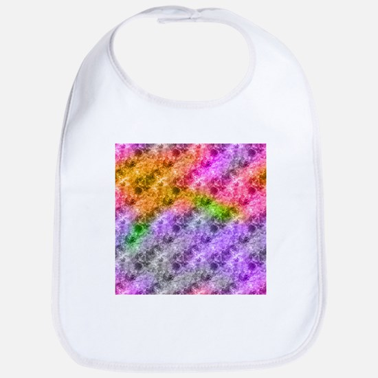 Crumpled Exotic Pattern Abstract Bib