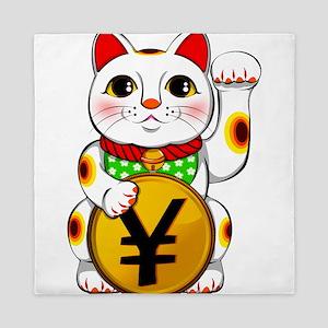 Yen Yuan Lucky Cat Maneki Neko Queen Duvet