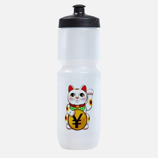 Yen Yuan Lucky Cat Maneki Neko Sports Bottle