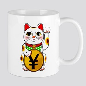 Yen Yuan Lucky Cat Maneki Neko Mugs