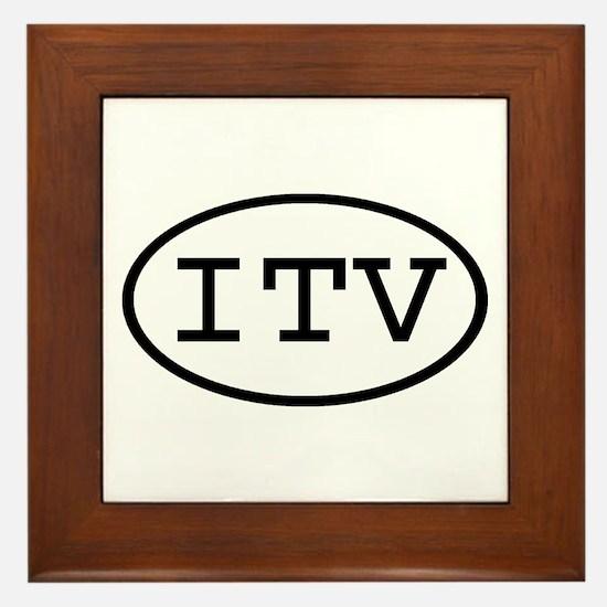 ITV Oval Framed Tile