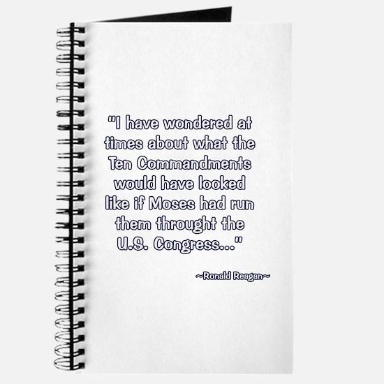 President Reagan on Moses VS. Congress Journal