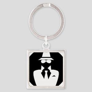 white hat hacker GRAPHICS Square Keychain