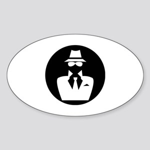 white hat hacker GRAPHICS Sticker (Oval)