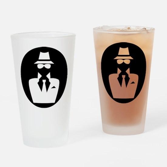 white hat hacker GRAPHICS Drinking Glass