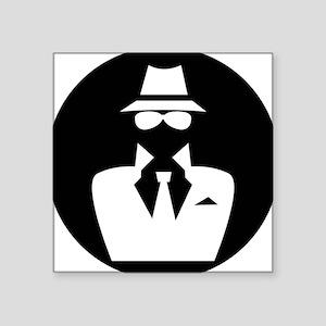 "white hat hacker GRAPHICS Square Sticker 3"" x 3"""