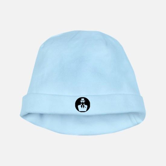 white hat hacker GRAPHICS baby hat