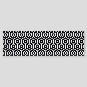 HEXAGON1 BLACK MARBLE & SILVER GL Sticker (Bumper)