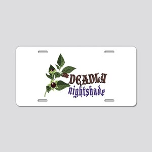 Deadly Nightshade Aluminum License Plate