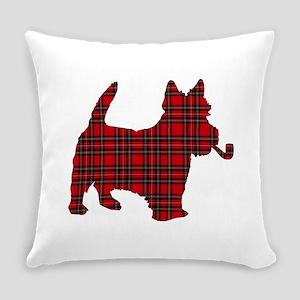 Scottish Terrier Tartan Everyday Pillow