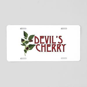 Devils Cherry Aluminum License Plate