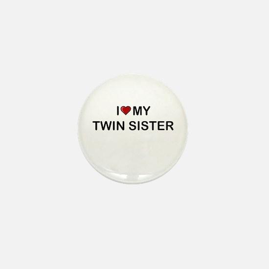 Cute Twin sister Mini Button
